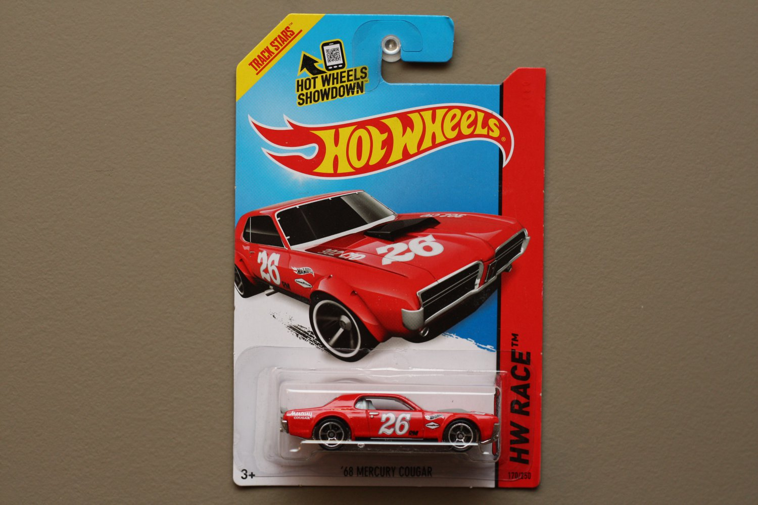 Hot Wheels 2014 HW Race '68 Mercury Cougar (red)