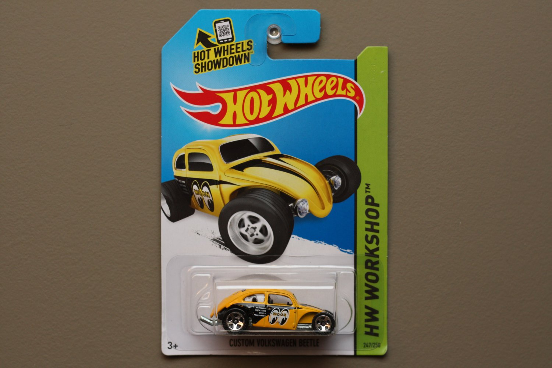 Hot Wheels 2014 HW Workshop Custom Volkswagen Beetle (yellow)