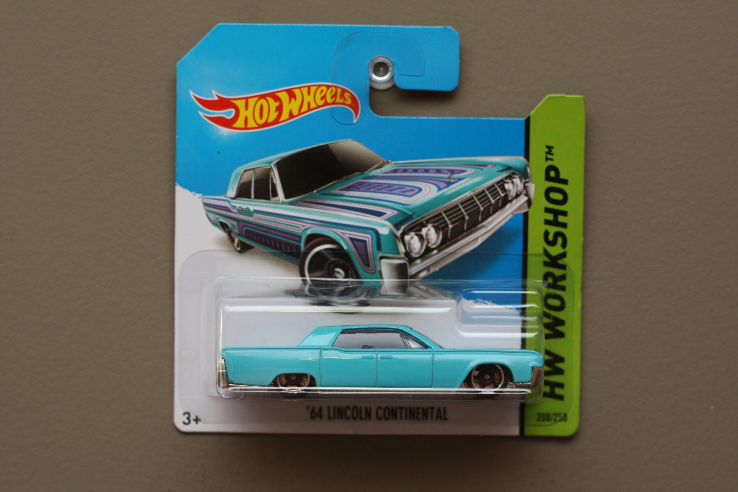 [MISSING TAMPO ERROR] Hot Wheels 2014 HW Workshop '64 Lincoln Continental (turquoise)