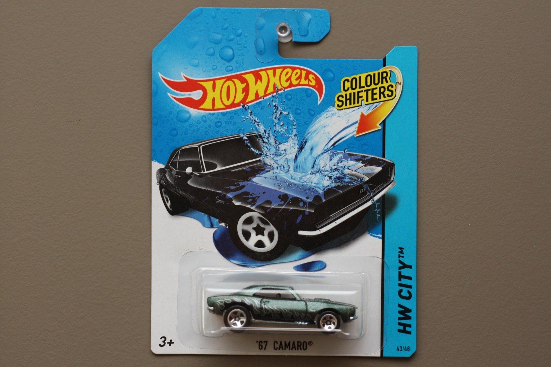 Hot Wheels 2014 Color Shifters '67 Camaro (dark green to blue)