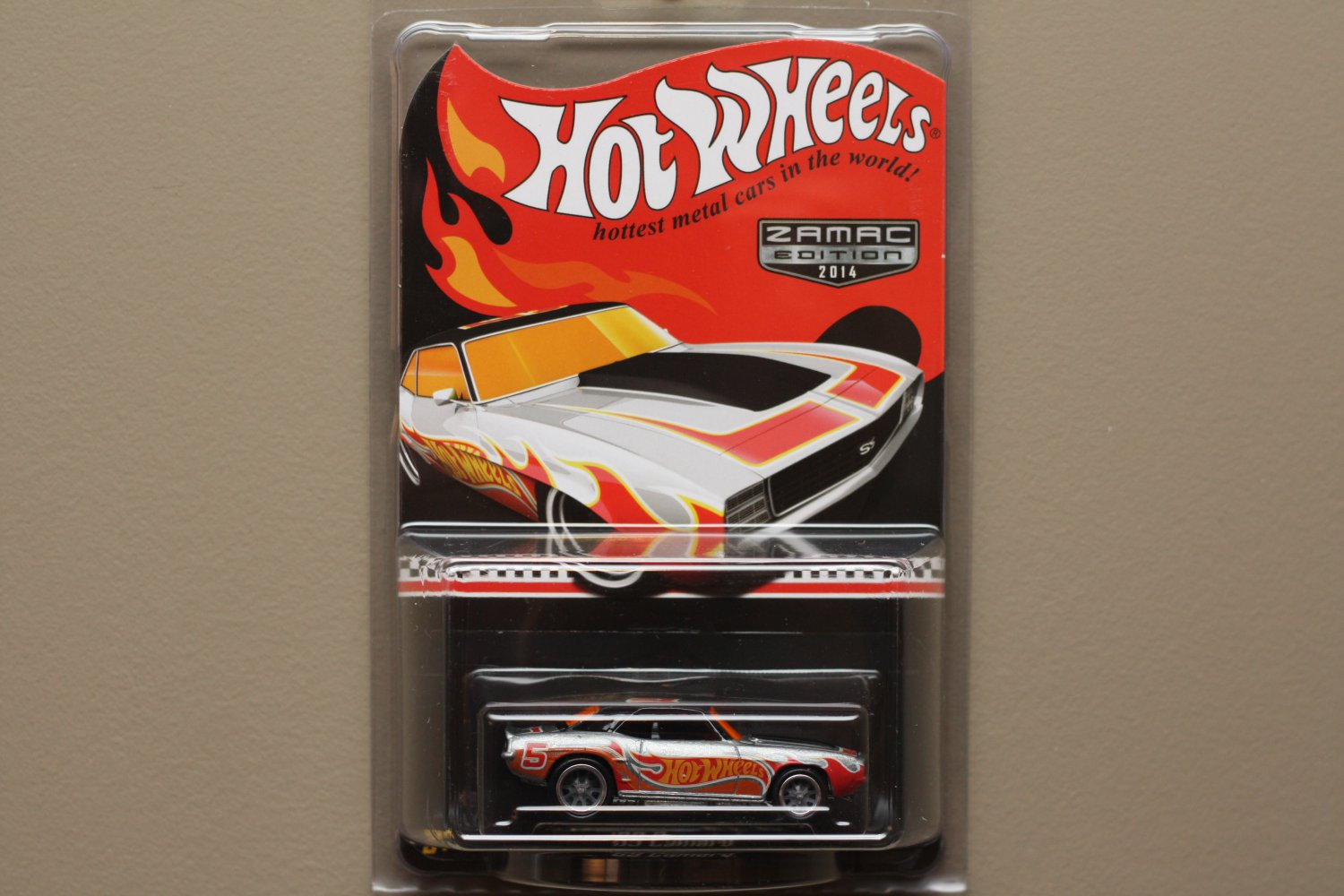 Hot Wheels 2014 ZAMAC Collectors Edition '69 Camaro (Walmart Excl. Mail-In)