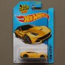 Hot Wheels 2014 HW City Ferrari F12 Berlinetta (yellow) (SEE CONDITION)