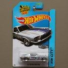Hot Wheels 2014 HW City '67 Custom Mustang (ZAMAC silver - Walmart Excl.)