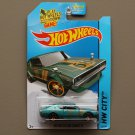 Hot Wheels 2014 HW City Nissan Skyline 2000GT-R (teal) (SEE CONDITION)