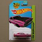Hot Wheels 2014 HW Workshop '71 Dodge Challenger (pink - Kmart Excl.)