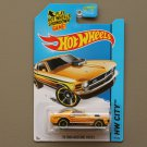Hot Wheels 2014 HW City '70 Ford Mustang Mach 1 (yellow)