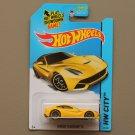Hot Wheels 2014 HW City Ferrari F12 Berlinetta (yellow)