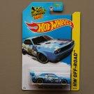 Hot Wheels 2014 HW Off-Road Dodge Challenger Drift Car (blue - Kmart Excl.)