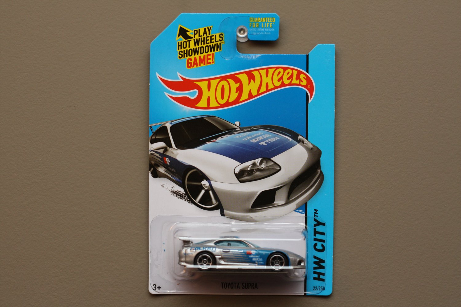 Hot Wheels 2014 Hw City Toyota Supra Silver Kmart Excl