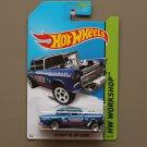 Hot Wheels 2014 HW Workshop '55 Chevy Bel Air Gasser (blue)