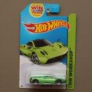 Hot Wheels 2014 HW Workshop Pagani Huayra (green)