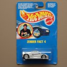 Hot Wheels 1990 Collector Series Zender Fact 4 (silver) (rare David Hasselhoff Card) (SEE CONDITION)