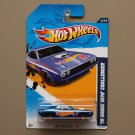 Hot Wheels 2012 HW Racing '70 Dodge HEMI Challenger (blue)