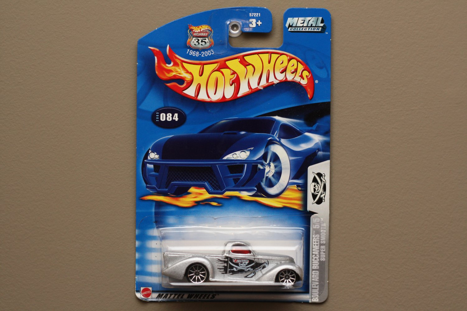 Hot Wheels 2003 Boulevard Buccaneers Super Smooth (silver) (SEE CONDITION)