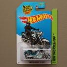 Hot Wheels 2014 HW Workshop Harley-Davidson Fat Boy (spectraflame teal) (Super Treasure Hunt)