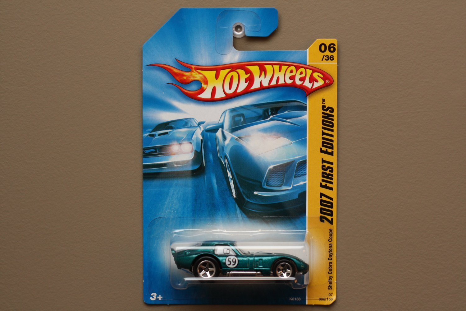 [WHEEL VARIATION] Hot Wheels 2007 First Editions Shelby Cobra Daytona Coupe (teal)
