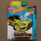 Hot Wheels 2015 Color Shifters 2008 Mitsubishi Lancer Evolution (burgundy to yellow)