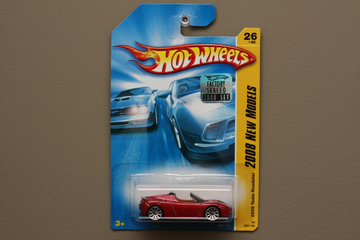 Hot Wheels 2008 New Models 2008 Tesla Roadster (red)
