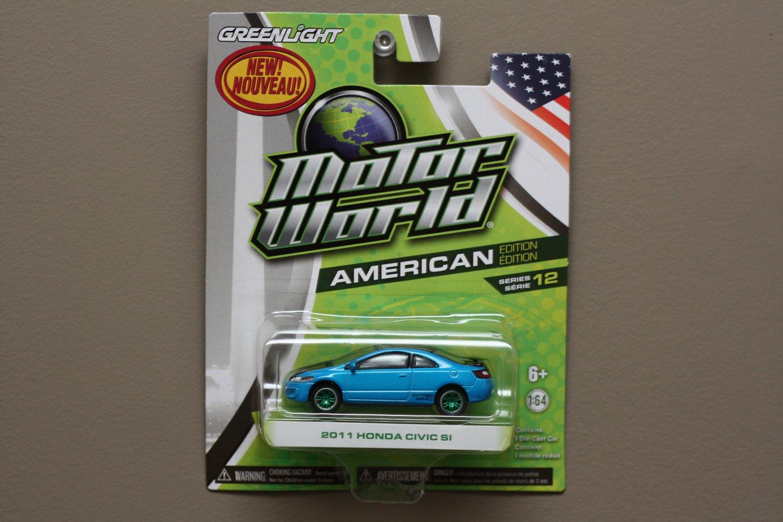 Greenlight Motor World Series 12 American Edition 2011 Honda Civic SI (blue) (Green Machine)