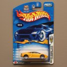Hot Wheels 2003 First Editions Lamborghini Murcielago (yellow) (SEE CONDITION)