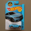 Hot Wheels 2015 HW City BMW M4 (blue) (SEE CONDITION)