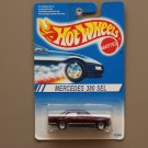 Hot Wheels 1994 Model Series Mercedes 380 SEL (burgundy) (silver 7-spoke wheels)