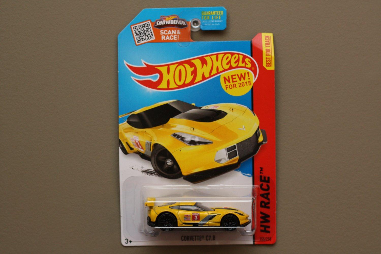Hot Wheels 2015 Hw Race Corvette C7r Yellow See Condition Mc Laren