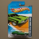 Hot Wheels 2012 Muscle Mania Ford '72 Ford Gran Torino Sport (green)