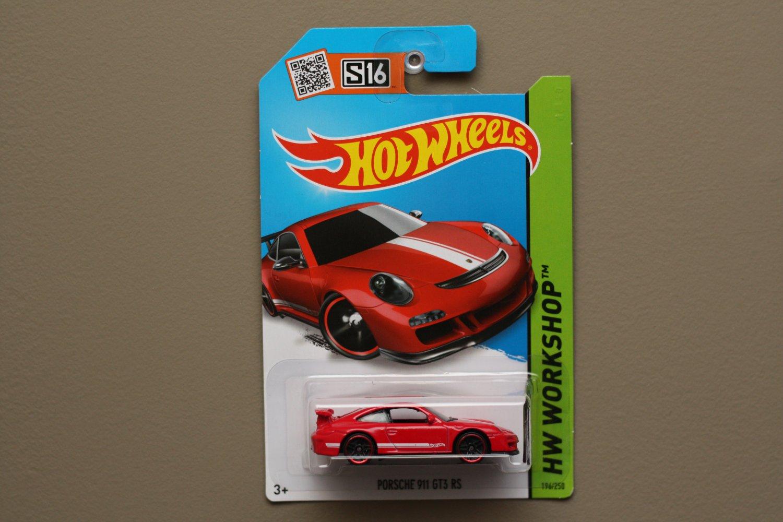 Hot Wheels 2015 HW Workshop Porsche 911 GT3 RS (red)