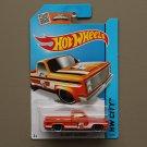 Hot Wheels 2015 HW City '83 Chevy Silverado (orange)