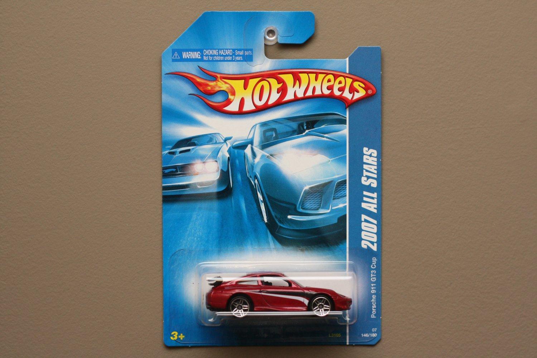 Hot Wheels 2007 HW All Stars Porsche 911 GT3 Cup (burgundy)