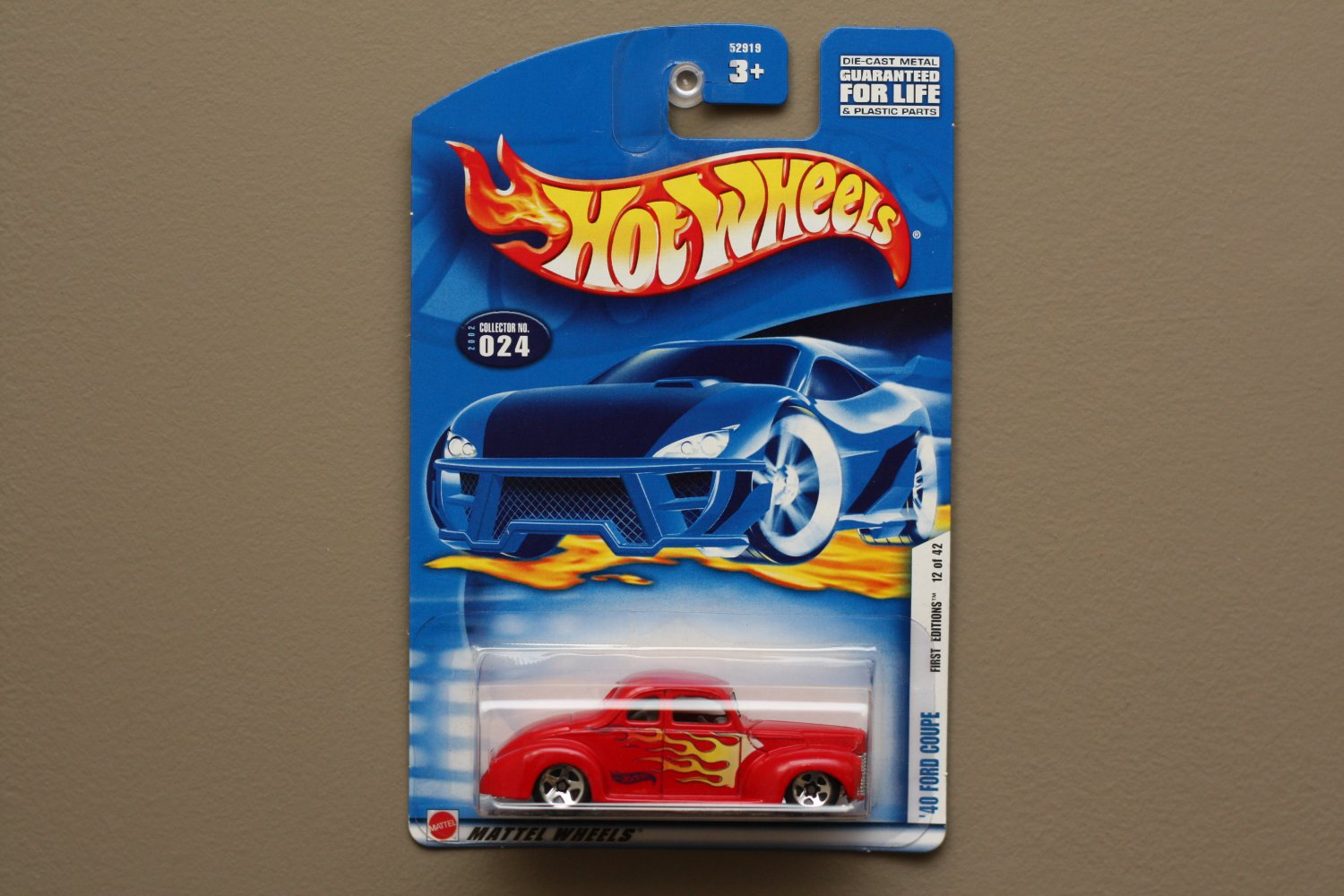 Hot Wheels 2002 First Editions '40 Ford Coupe (red)