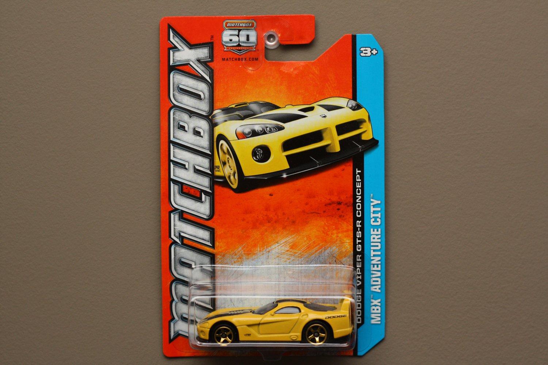 Matchbox 2013 MBX Adventure City Dodge Viper GTS-R Concept (yellow)