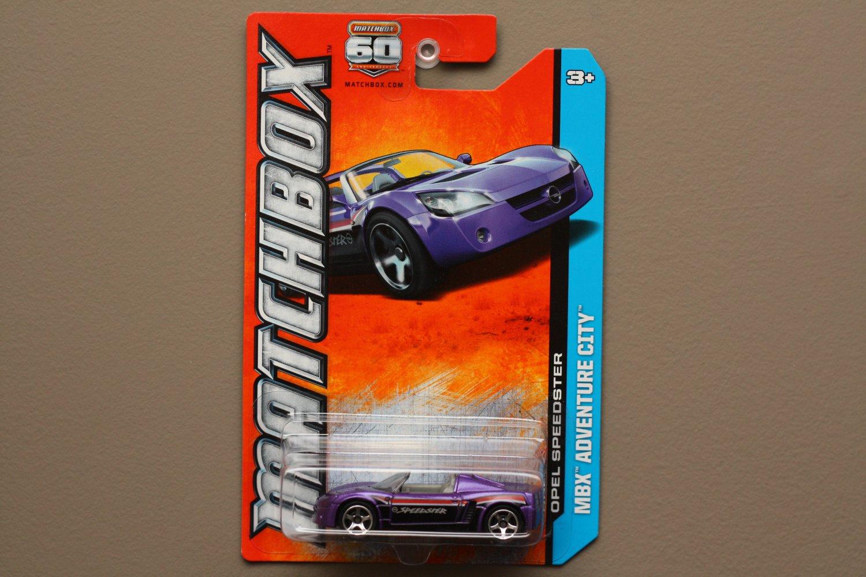 Matchbox 2013 MBX Adventure City Opel Speedster (purple)