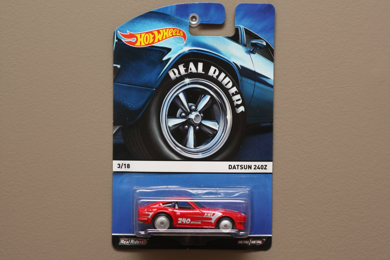 Hot Wheels 2015 Heritage Real Riders Datsun 240Z