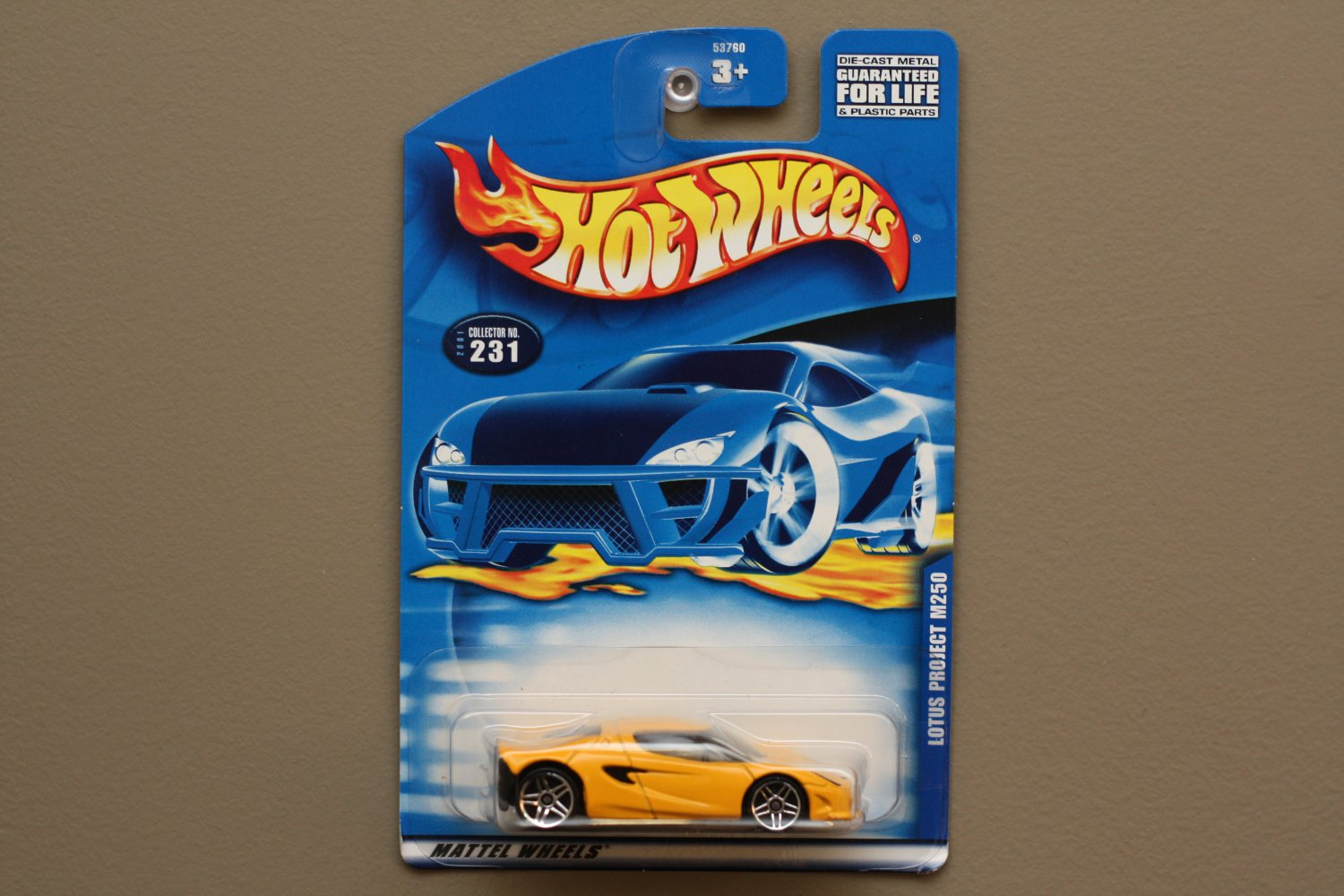Hot Wheels 2001 Collector Series Lotus Project M250 (yellow)