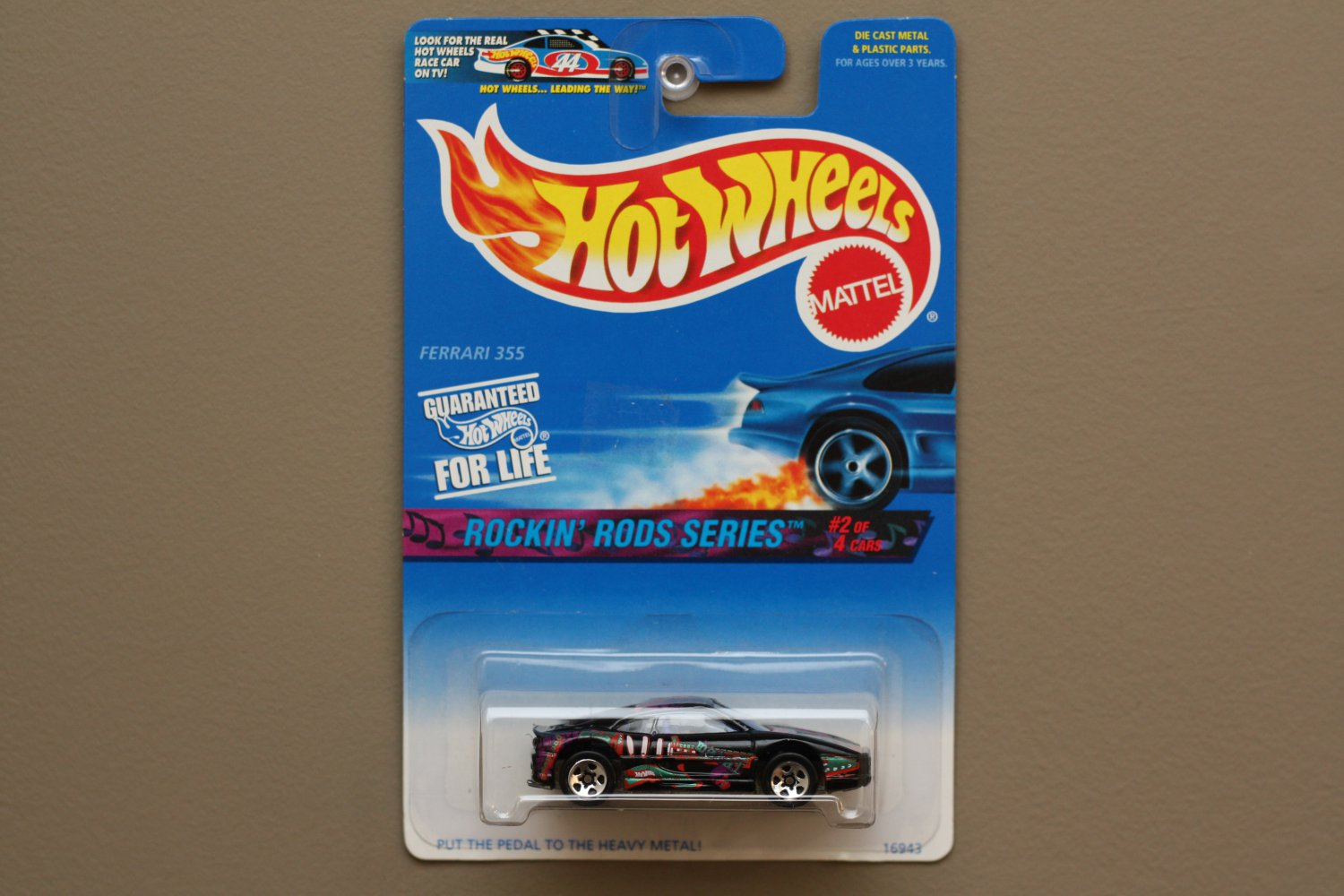 Hot Wheels 1997 Rockin' Rods Series Ferrari 355 (black) (SEE CONDITION)