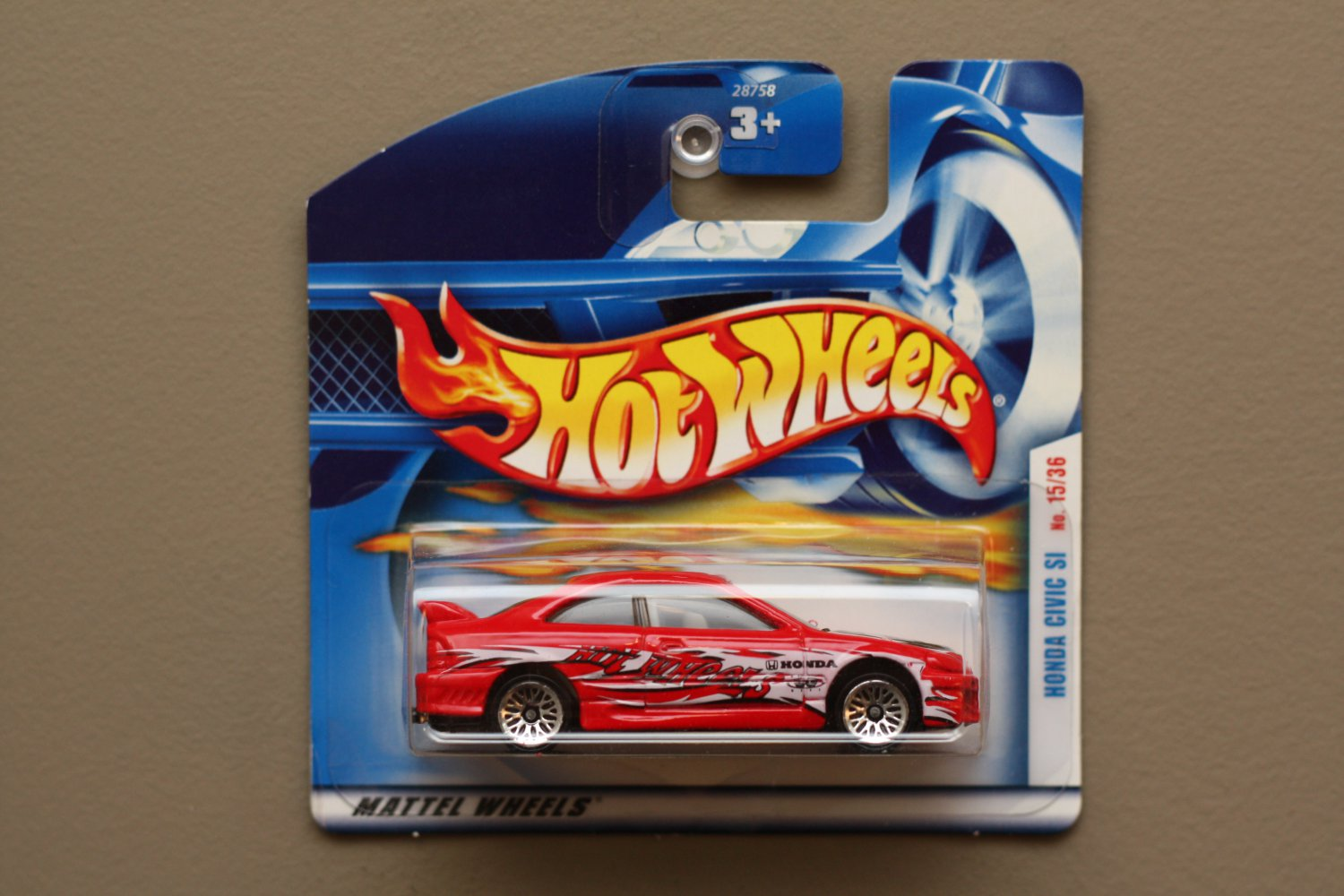 Hot Wheels 2001 First Editions Honda Civic SI (red)