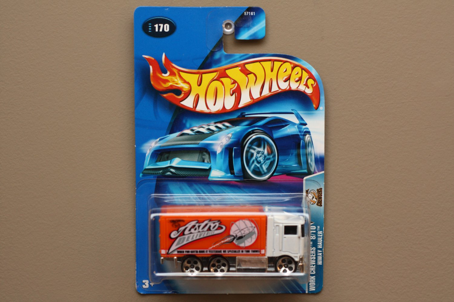 Hot Wheels 2003 Work Crewsers Hiway Hauler (white/orange)