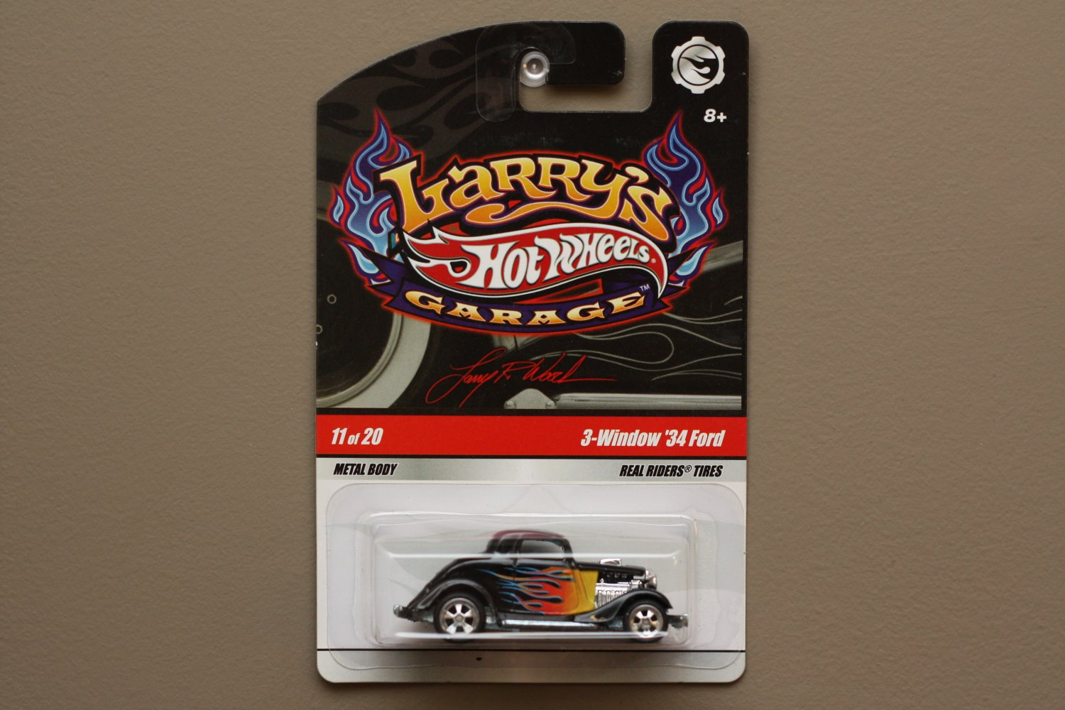 Hot Wheels 2009 Larry's Garage 3-Window '34 Ford (black)