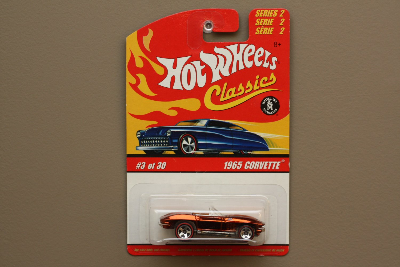 Hot Wheels 2006 Classics Series 2 1965 Corvette (chrome orange)
