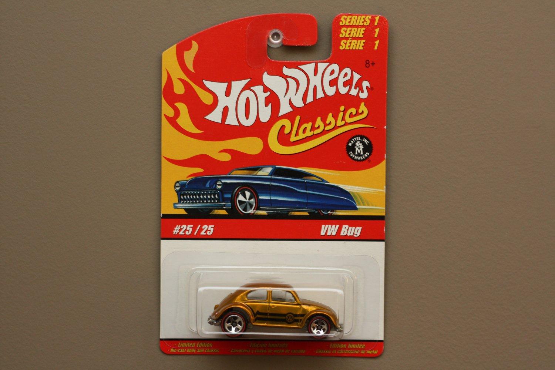 Hot Wheels 2005 Classics Series 1 VW Bug (Volkswagen Beetle) (gold)