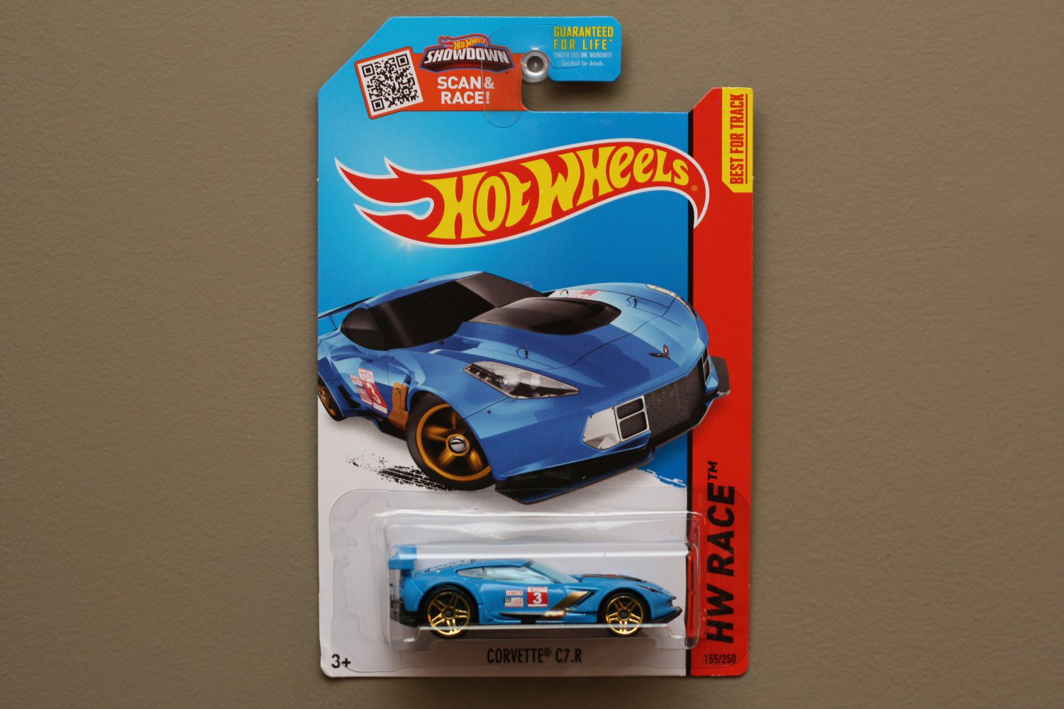 Hot Wheels 2015 HW Race Corvette C7R (blue)