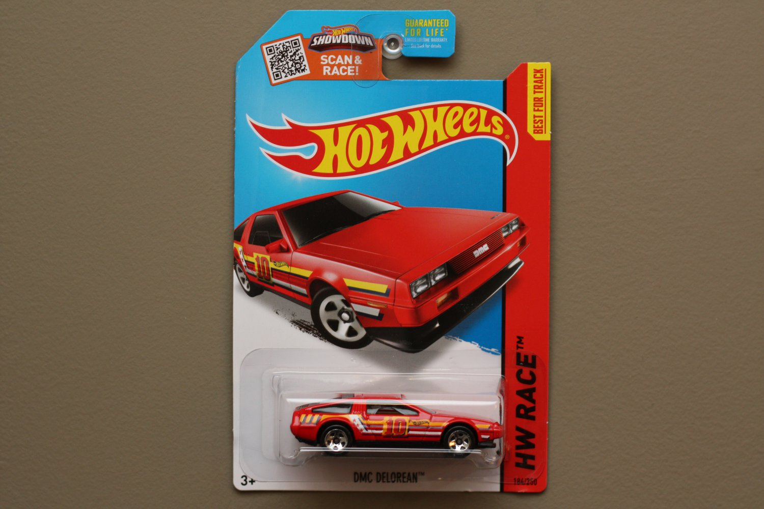 Hot Wheels 2015 HW Race DMC Delorean (red) (SEE CONDITION)