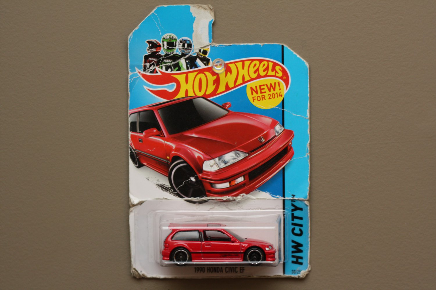 Hot Wheels 2014 HW City 1990 Honda Civic EF (red) (SEE CONDITION)