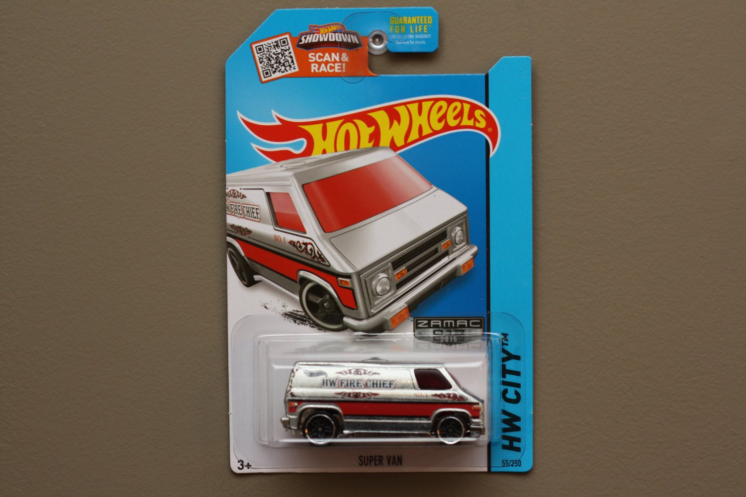Hot Wheels 2015 HW City Super Van (ZAMAC silver - Walmart Excl.)