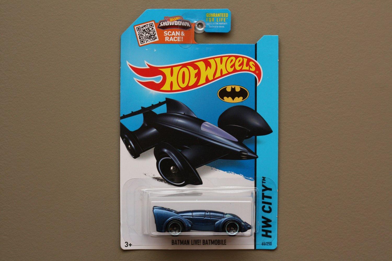 Hot Wheels 2015 HW City Batman Live! Batmobile (navy blue) (SEE CONDITION)