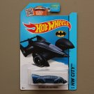 Hot Wheels 2015 HW City Batman Live! Batmobile (navy blue) (SEE CONDITION)