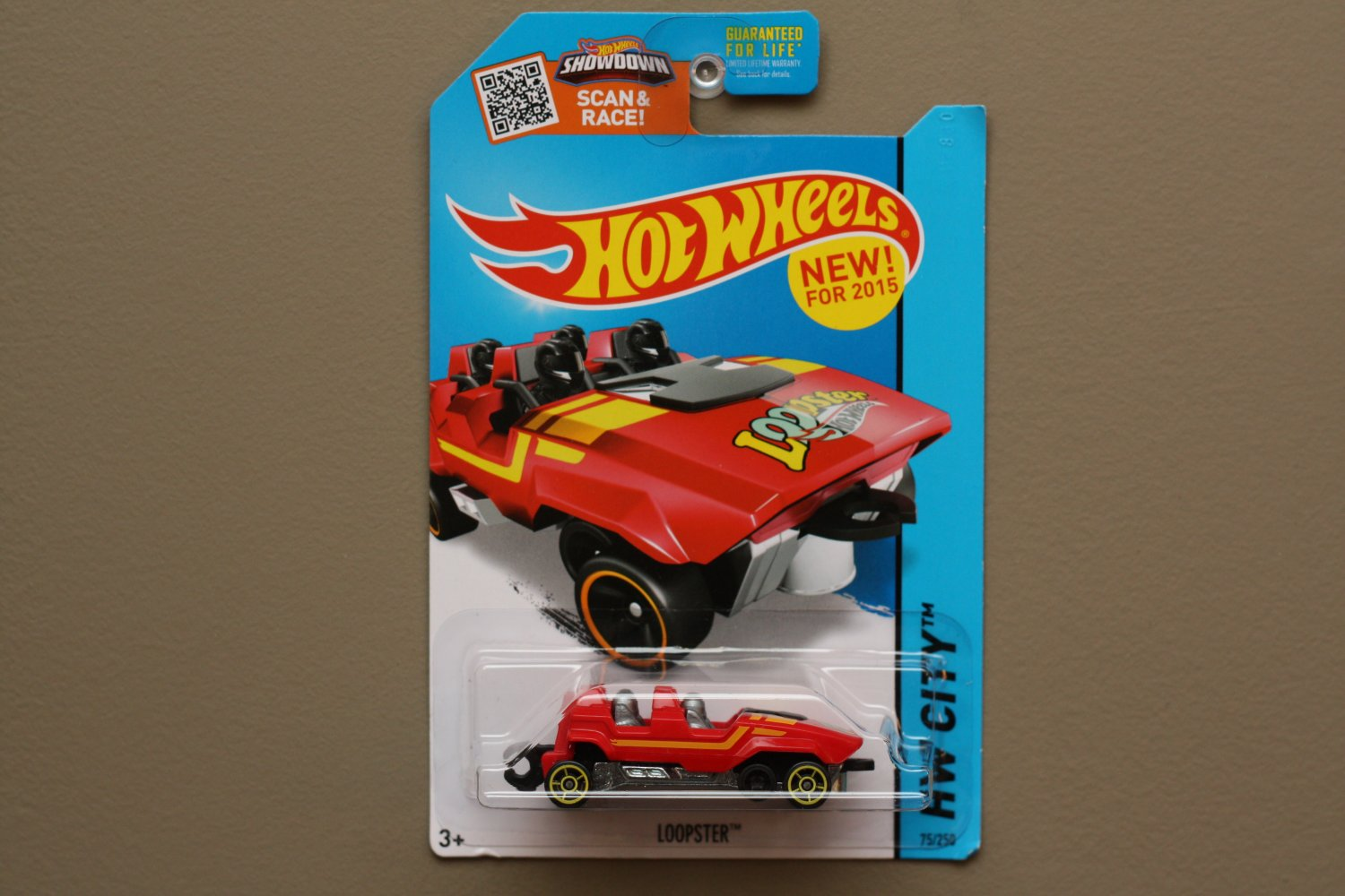 Hot Wheels 2015 HW City Loopster (red) (hands down variation) (SEE CONDITION)