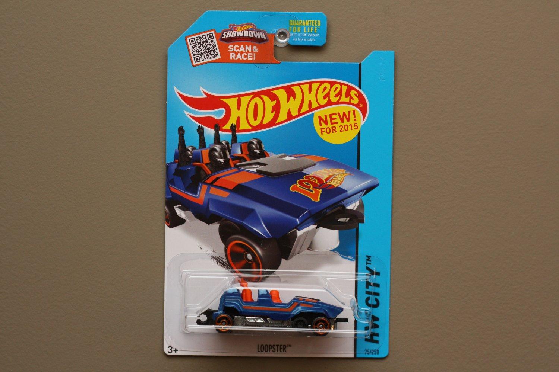 Hot Wheels 2015 HW City Loopster (blue) (hands up variation)